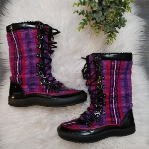 Coach Peggy Berry Multi snow boots size 8.5